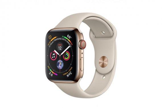 Смарт-часы Apple Watch Series 4 GPS + LTE 40mm Gold Steel w. Stone Sport B. (MTUR2/MTVN2)