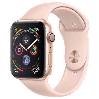 Смарт-часы Apple Watch Series 4 GPS + LTE 44mm Gold Alum. w. Pink Sand Sport b. (MTV02/MTVW2)