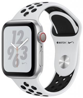 Смарт-часы Apple Watch Nike+ Series 4 GPS + LTE 40mm Silver Alum. w. Platinum/Black Nike Sport b. (MTV92)