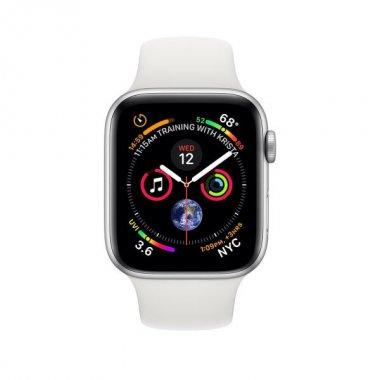 Смарт-часы Apple Watch Series 4 GPS + LTE 44mm Aluminum Case w. White Sport B. (MTUU2)