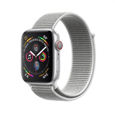 Смарт-часы Apple Watch Series 4 GPS + LTE 44mm Silver Alum. w. Seashell Sport l. (MTUV2)