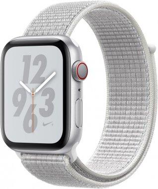 Смарт-часы Apple Watch Series 4 Nike+ GPS + LTE 44mm Silver Aluminium c. w. Summit White Nike Sport L. (MTXJ2)