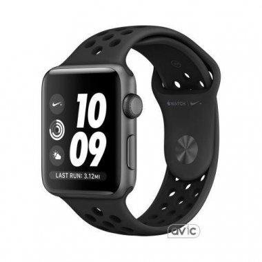 Смарт-часы Apple Watch Nike+ Series 4 GPS + LTE 44mm Gray Alum. w. Anthracite/Black Nike Sport b. (MTXE2)