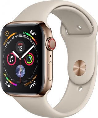 Смарт-часы Apple Watch Series 4 GPS + LTE 44mm Gold Steel w. Stone Sport b. (MTV72/MTX42)