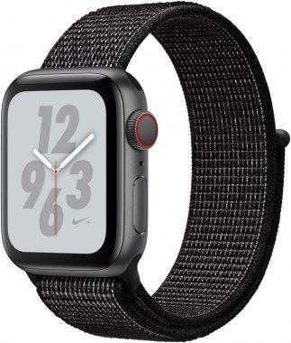Смарт-часы Apple Watch Series 4 Nike+ GPS + Cellular 40mm Gray c. w. Black Nike Sport b. (MTXG2/MTX82)