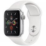 Смарт-часы Apple Watch Series 5 GPS 44mm Silver Aluminum w. White b.- (MWVD2)