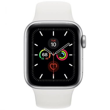 Смарт-часы Apple Watch Series 5 GPS 40mm Silver Aluminum w. White b. (MWV62)