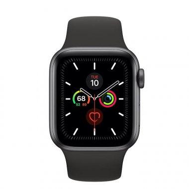 Смарт-часы Apple Watch Series 5 GPS 40mm Space Gray Aluminum w. Black b.- (MWV82)