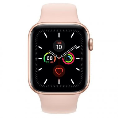 Смарт-часы Apple Watch Series 5 GPS 44mm Gold Aluminum w. Pink Sand b.- (MWVE2)