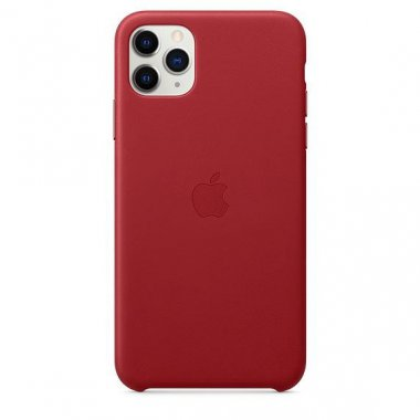 Чехол для смартфона Apple iPhone 11 Pro Max Leather Case - PRODUCT RED (MX0F2)