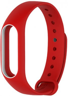 Ремешок UWatch Double Color Replacement Silicone Band For Xiaomi Mi Band 2 Red/White Line