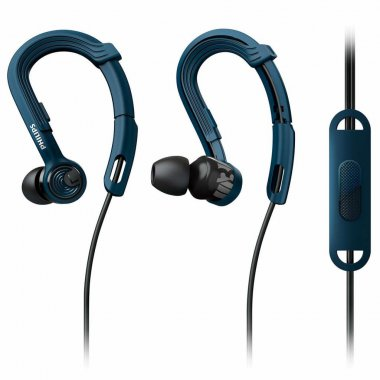 Наушники Philips SHQ2405 ActionFit Mic Blue (SHQ2405BL/00)