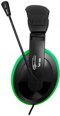 Гарнітура Gemix W-300 Black/Green (W-300 black-green)