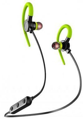 awei b925bl bluetooth earphones green naushniki