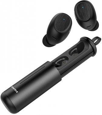 awei black earphones naushniki twins twst55