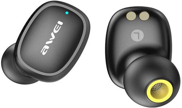 awei black bluetooth earphones naushniki t13tws