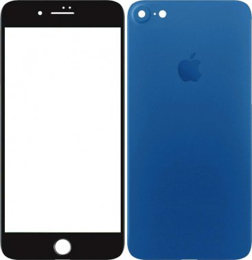 Защитное стекло TOTO 2,5D Full cover Tempered Glass front and back iPhone 7 Blue