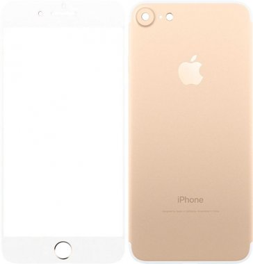 Защитное стекло TOTO Metal Tempered Glass 0.2 mm front and back iPhone 7 Gold