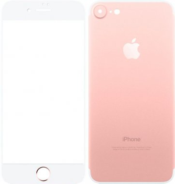 Защитное стекло TOTO Metal Tempered Glass 0.2 mm front and back iPhone 7 Rose Gold