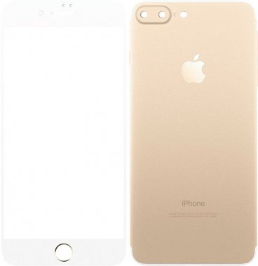 Защитное стекло TOTO Metal Tempered Glass 0.2 mm front and back iPhone 7 Plus Gold