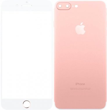 Защитное стекло TOTO Metal Tempered Glass 0.2 mm front and back iPhone 7 Plus Rose Gold