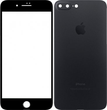 Защитное стекло TOTO Metal Tempered Glass 0.2 mm front and back iPhone 7 Plus Black