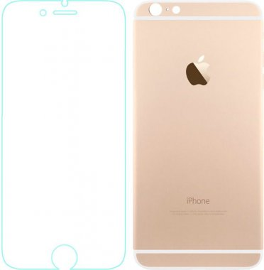 Защитное стекло TOTO Metal Tempered Glass 0.2 mm front and back iPhone 6/6s Gold