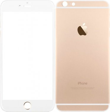 Защитное стекло TOTO Metal Tempered Glass 0.2 mm front and back iPhone 6/6s Plus Gold