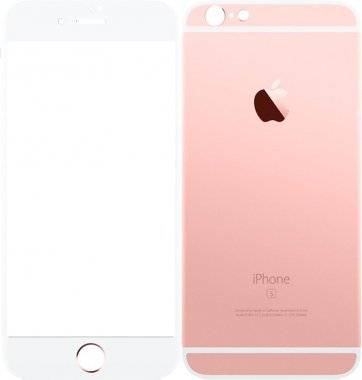 Защитное стекло TOTO Metal Tempered Glass 0.2 mm front and back iPhone 6/6s Plus Rose Gold