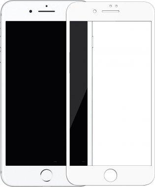 Защитное стекло Mocoll 3D Full Cover 0.3mm Black Diamond Tempered Glass Apple iPhone 7/8 White