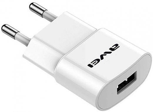 1usb awei c83221a cable charger lightning plus setevoe travel ustrojstvo white zaryadnoe