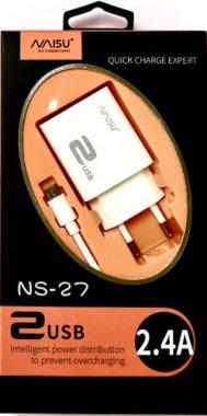 micro naisu ns271usb24a plus port setevoe ustrojstvo white zaryadnoe