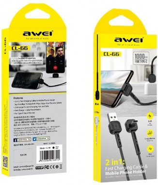 awei black cable cl66c1m kabel type