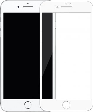 Защитное стекло Mocoll 3D Full Cover 0.3mm Black Diamond Tempered Glass Apple iPhone 7/8 White