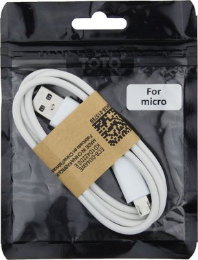 Кабель TOTO TKH-56 USB cable microUSB 1m White