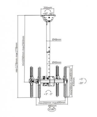 Кронштейн iTech CELB-Duo-54L