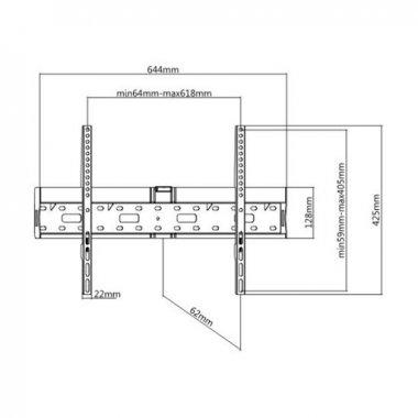 Кронштейн Brateck LP55-46FB2