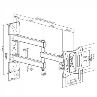 Кронштейн iTech LCD33B WHITE
