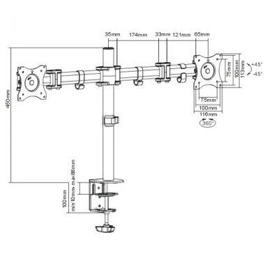 Кронштейн ITECHmount MBS-12F