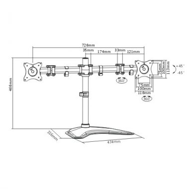 Кронштейн ITECHmount MBS-12M
