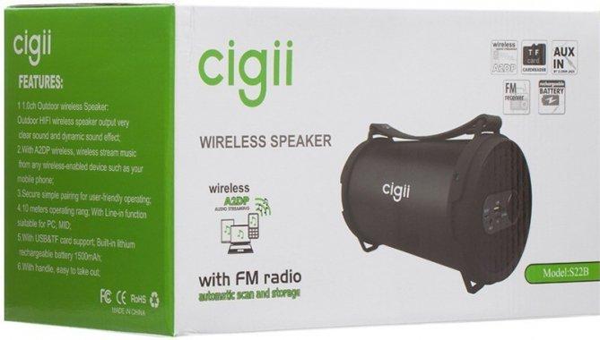 Портативные колонки Портативная акустика Cigii SB22B Bluetooth Speaker Black