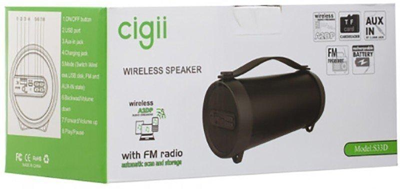 Портативные колонки Портативная акустика Cigii S33D Bluetooth Speaker Black