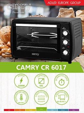 Духовка Camry CR 6017 63 литров Электропечь