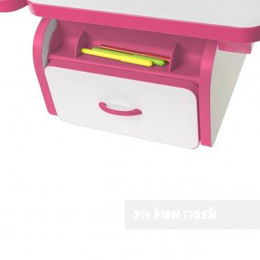 Регулируемая парта FunDesk Creare Pink с выдвижным ящиком