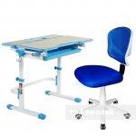 Комплект растущая парта Lavoro L Blue + детское регулируемое кресло LST6 Blue FunDesk