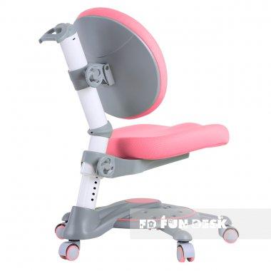 Комплект подростковая парта для школы AmareGrey + ортопедическое кресло SST1 Pink ???????FunDesk
