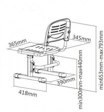 Комплект подростковая парта Amare Blue + детский стул SST3 FunDesk