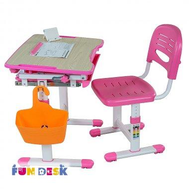 Детская парта и стульчик для дома FunDesk Bambino Blue розовый