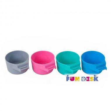 Детская парта и стульчик для дома FunDesk Bambino Blue серый