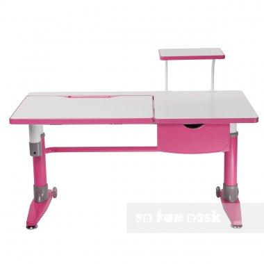 Комплект подростковая парта для школы Ballare Pink + ортопедическое кресло Bello II FunDesk